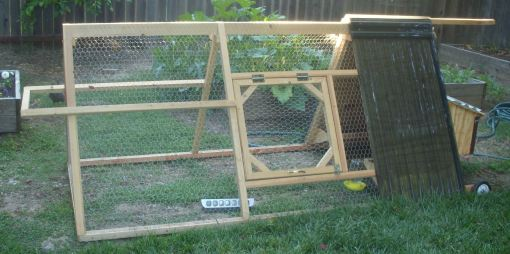 A small chicken tractor